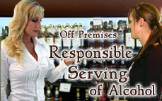 Bartending License, alcohol server education certificate / Off-Premises Responsible Serving®